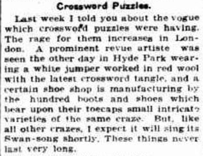 Crossword craze