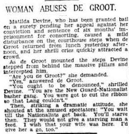 Tilly Devine abuses Francis de Groot