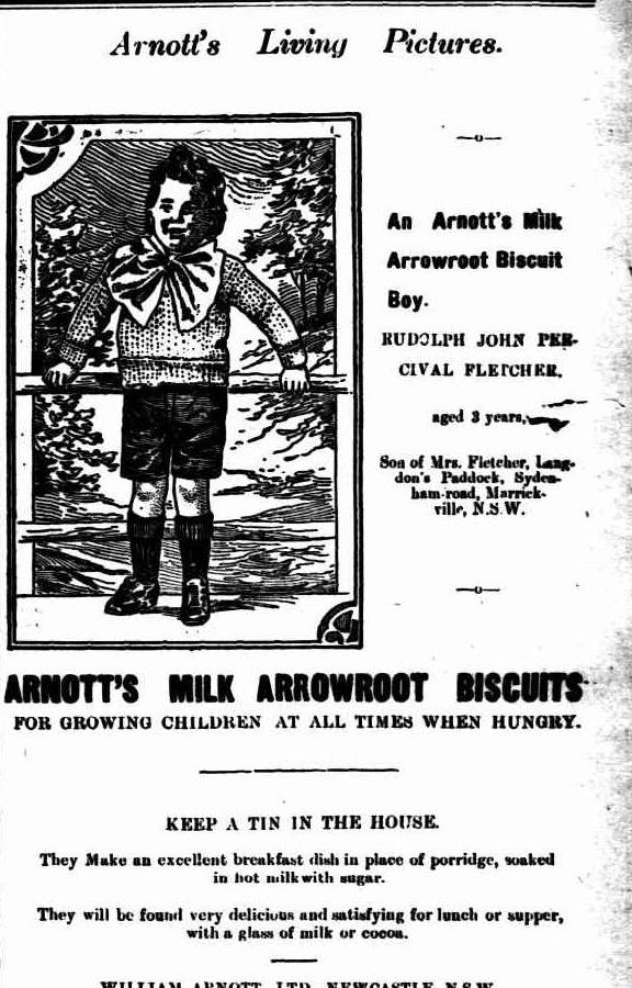 Milk Arrowroot biscuits - Rudolph John Percival Fletcher