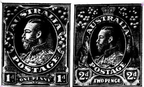 George V Australia stamps
