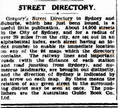Gregory's Sydney Street Directory - 27th Edition