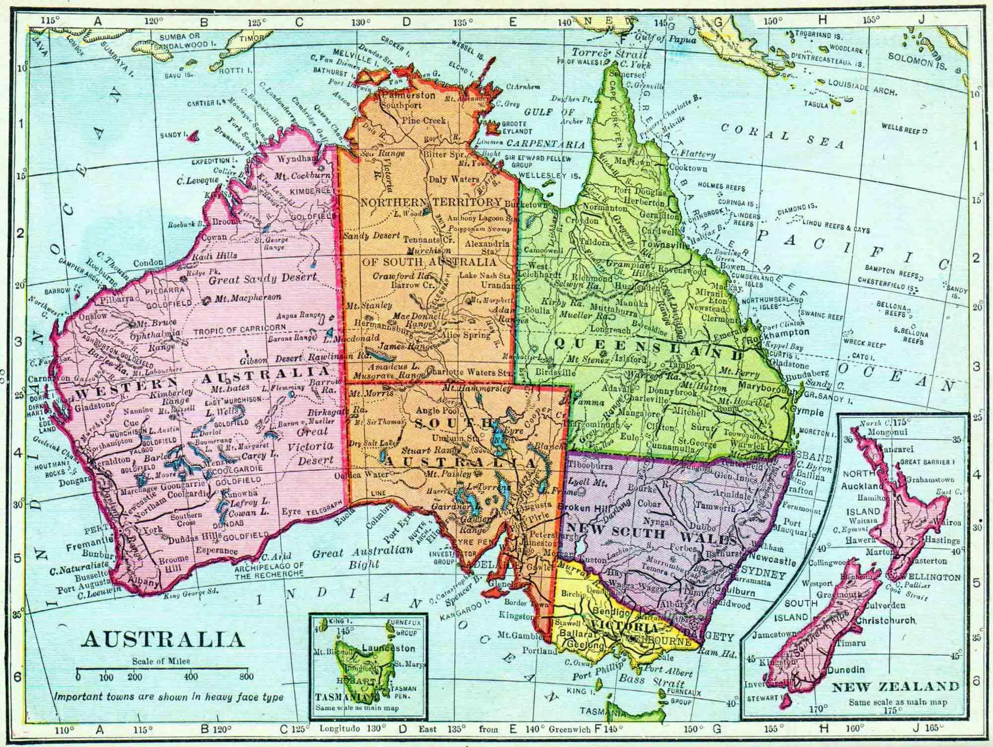 Australian map australia map 1911