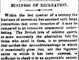 Business of recreation