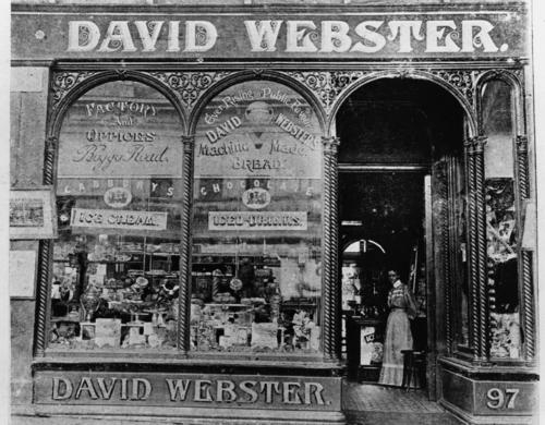 David Websters Tea Rooms in Brisbane 1900