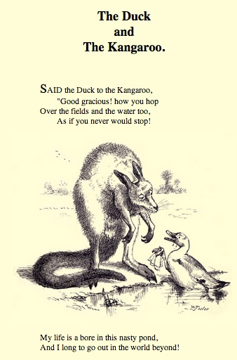 Duck and kangaroo