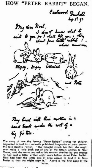 How Peter Rabbit began