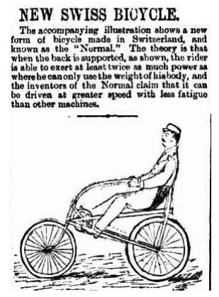 New Swiss bicycle 1864