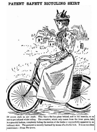 Patent safety bicycle skirt