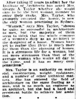 Florence Taylor - 1923 - The Mail