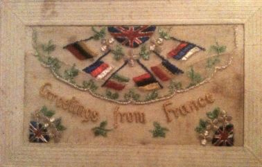 WWI embroidered postcard