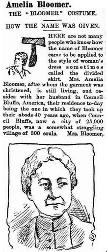 Amelia Bloomer - Evening News 1894