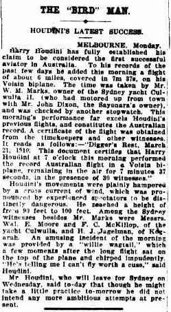 SMH 22 March 1910 - Houdini