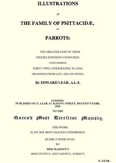 Parrots - Edward Lear